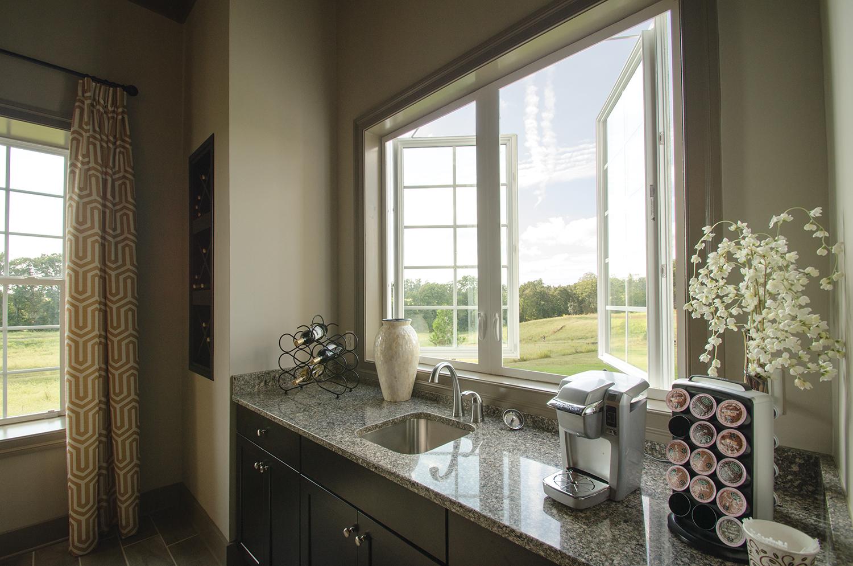 open window in kitchen to allow breeze