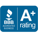 Better Business Burea A+ Rating badge