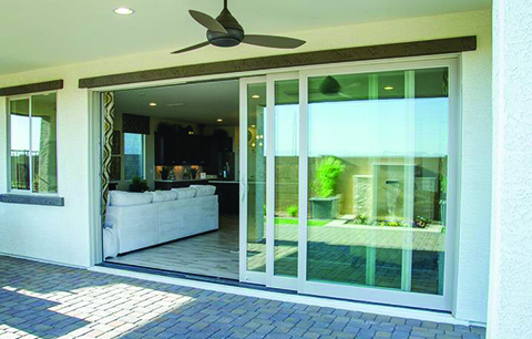 Multislide patio door installed by HomeRite Doors Jacksonville