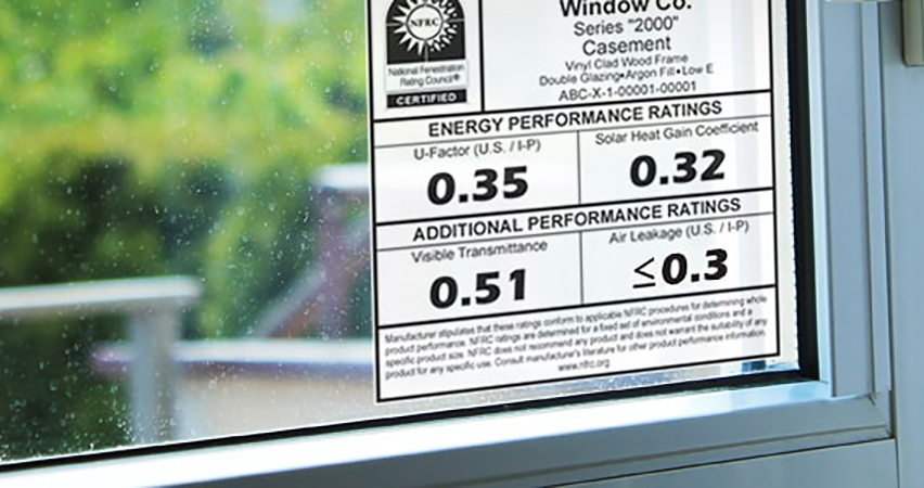 Understanding Window Energy Performance Labels